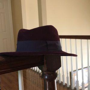 Zara purple felt hat